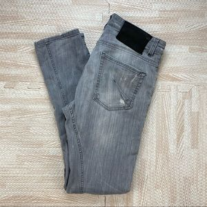 Galliano Men's Gray Distressed Jeans Size 31x31.5